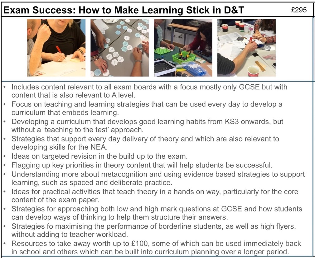 EXAM SUCCESS How to make learning stick in D&T outline copy 2