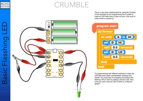 L Crumble Basic flashing LED